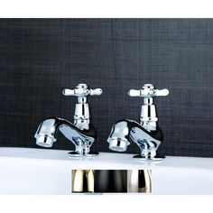 Add a classic and opulent feel to your bathroom decor with old-time style Taps. Assorizied with cross handles. Constructed from brass for long lasting performance. High quality brass construction. Lif