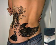 bird back tattoos