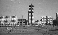 Warszawa - Ściana Wschodnia od strony placu Defilad (1962)