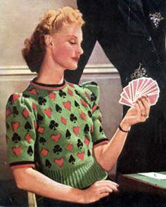 FREE Vintage 1940s Bridge Jumper Knitting Pattern / Tutorial