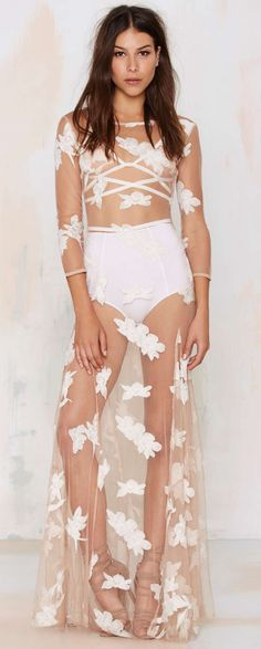Orchid sheer dress