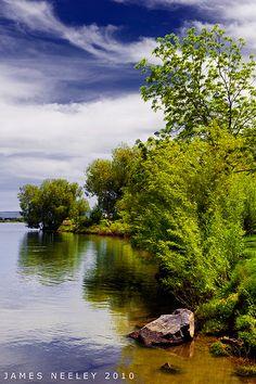 Snake River just north of Idaho Falls, Idaho