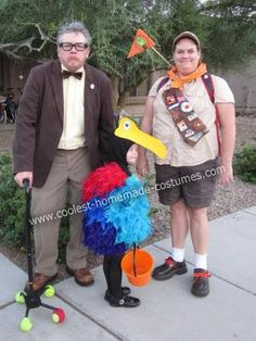 Do it Yourself UP Group Halloween Costume: Our family loves the movie UP so we all picked characters we wanted to be and set out to make a do it yourself UP group Halloween costume. My husband and