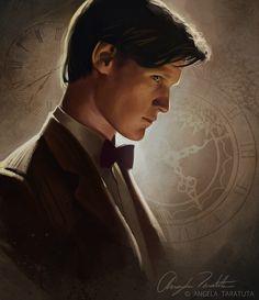 One of my all-time favourite fanarts of Eleven, by Angela Taratuta.