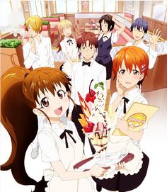 Wagnaria!!~~basically about a bunch of eccentric people working in a family restaurant. It's quite entertaining :)