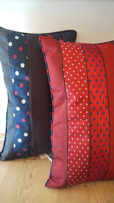Pillow with old ties designed by: Designdessai / napolitan designer