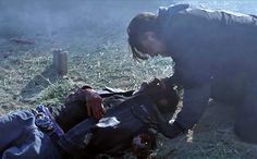 Chibs praying over his nephew Padric's body (poor Chibs) {season 3 episode 11}