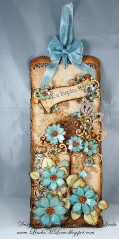 Heartfelt Creations Inspiration I adore the duck egg blue and soft brown tones this is a very clever piece