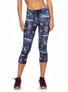 74172de47a06c Roxy Stay On Capri Pants Anthracite Blur Paint. ROXY DryFlight® technology