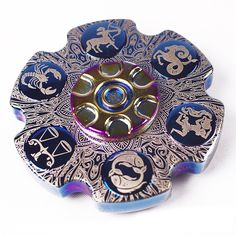 ECUBEE EDC Brass 12 Constellations Hand Spinner Fidget Spinner Reduce Stress Gadget