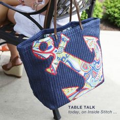 Love the anchor carry it all bag! What will you carry in this? Vera Bradley at Maggie Anne's