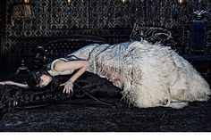 Alexander McQueen Fall 2014 featuring Edie Campbell. See more stellar ad campaigns from Fall 2014 here!