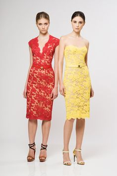 Reem Acra red lace dress