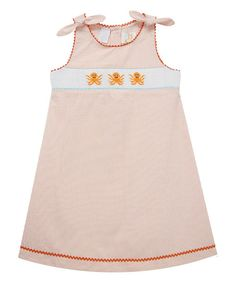 Coral Octopus Smocked A-Line Dress - Infant, Toddler & Girls | zulily