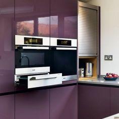 Fitted wardrobes plan purple very modern