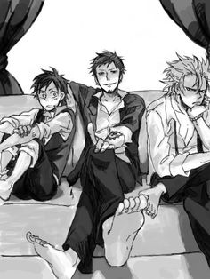 Trafalgar Law, Monkey D. Luffy and Eustass Kid #one piece