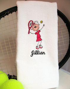 Tennis Gift  Personalized Tennis Towel  Tennis by TennisGiftsToGo, $16.95