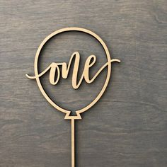 One Balloon Cake Topper W inches wide, Birthday, Turning One, Birthday Cake Topper, One Cake One Balloon, Balloon Cake, Balloons, Laser Cutter Ideas, Laser Cutter Projects, 30th Birthday Ideas For Women, 1st Birthday Cake Topper, 3d Cnc, Wood Cake