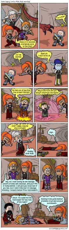 Dark Legacy Comics: Raid Warnings