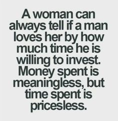 That means a lot everything: time and money the man willing to invest and whose house he pays!