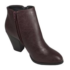 Tevay! Classic Almond Toe Stacked Heel Ankle Bootie - lustacious