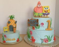 Spongebob Cake By TaraRosin on CakeCentral.com