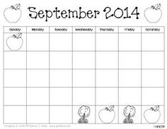 Traceable & Blank Monthly Calendar Templates {June 2014-Ju