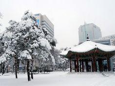 paisajes de corea del sur en invierno