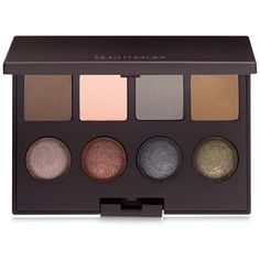 Laura Mercier Eye Colour Palette found on Polyvore featuring beauty products, makeup, eye makeup, eyeshadow.  Love the 1st shadow, the taupy brow one. Such a beautiful color!!! Very rare shade. Beautiful palette.