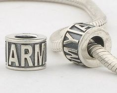 CLLE-ARMY 925 Sterling Silver Alphabet letter ARWY Pandora Charms beads Pandora Letters