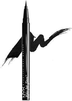 NYX Professional Makeup, Epic Ink Eye Liner, pennellino pigmentato e waterproof, Black : Amazon.it: Bellezza Professional Makeup, Nyx, Beauty, Black, Black People, Beauty Illustration