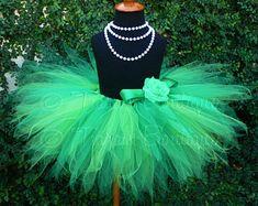 Green Tutu, St. Patrick's Day Tutu, Irish Celebration Tutu, Spring Meadow, Custom Sewn Pixie Tutu, Girls Birthday Tutu Set, Christmas Tutu