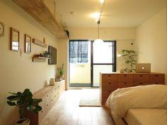 목재로 심플하고 차분하게 디자인한 일본 무지 스튜디오(원룸)