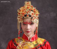 Chinese Headdress Meaning Chinese Wedding Headdress
