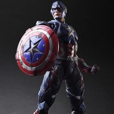 Captain America, Marvel Avengers -Play Arts Action Figure – One Geek