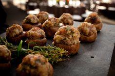 Stuffed mushrooms-Summer wedding at Pearl S. Buck | by Jamie Hollander Catering & Events