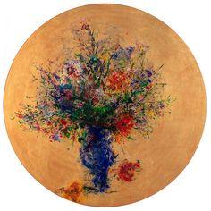 Ultramarin, pictura in ulei pe lemn, artist: Iurie Cojocaru, tablou, galerie online Aur, Leaf Tattoos, Watercolor Tattoo, Temp Tattoo