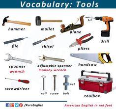Vocabulary:tools www.vocabularypage.com