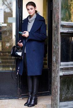 8 looks faciles à porter avec un pull col roulé ou col montant  (streetstyle) – Taaora – Blog Mode, Tendances, Looks 02bcc718bc43