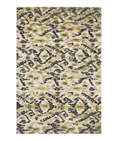 Love this Ivory & Green Naima Shag Rug by Safavieh Rugs on #zulily! #zulilyfinds