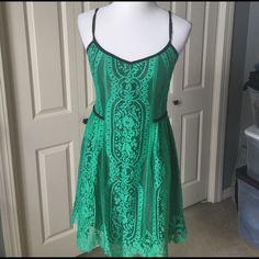 Nanette Lepore Dresses & Skirts - Black and green Nanette Lepore dress