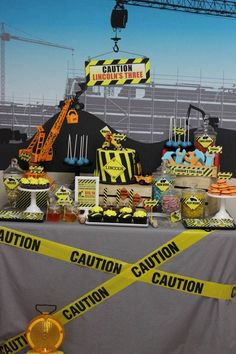 Construction Themed Birthday Party!