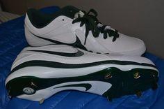 wholesale dealer 18474 b771c Nike MVP Pro Baseball Cleats Green White 524641-131 Size 15 Oakland A s MLB  13 for sale online   eBay