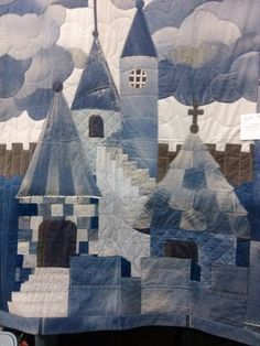 made from jeans by nicole - quilts - Patchwork Quilt, Applique Quilts, Crazy Quilting, House Quilts, Baby Quilts, Quilting Projects, Quilting Designs, Denim Kunst, Blue Jean Quilts