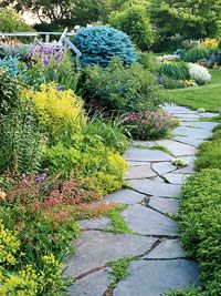 Along a Path Garden Plan. Add interest and texture to any winding walkway with this garden plan.