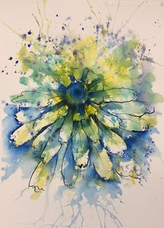We've just published a new class - 'Cornflower by Joanne Boon Thomas. Learn how to paint this expressive, yet delicate floral in her characteristic loose watercolour style. Pen And Watercolor, Watercolour Painting, Watercolor Flowers, Watercolors, Watercolour Tutorials, Watercolor Techniques, Abstract Watercolor Tutorial, Link Art, Tinta China