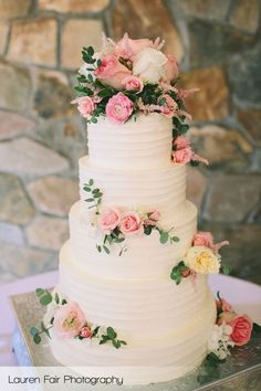 sugar flower wedding cakes - Google Search