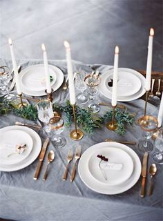 Love the brass candle holders!
