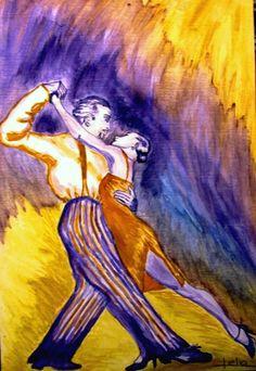 Purple and yellow tango