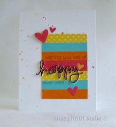 happy ever after | Flickr - Photo Sharing! Simon Says Stamp stamps and die, Lawn Fawn Hearts dies